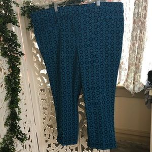 Lane Bryant patterned dress pants